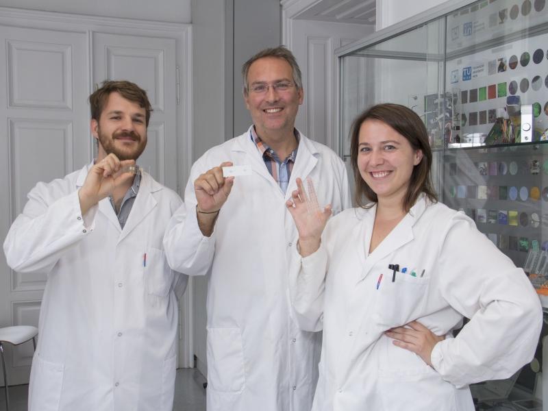 DI Barbara Bchmann, Prof. Peter Ertl und Dr. Mario Rothbauer (v.l.n.r.) (c) TU Wien