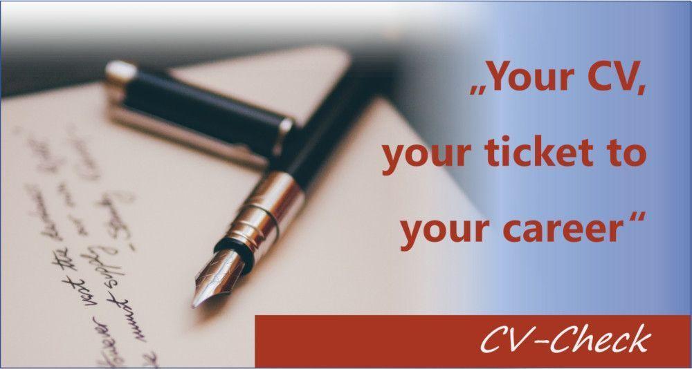 CV-check - überzeuge mit deinem Lebenslauf